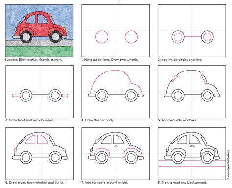 How To Draw A Car Step By Step With Pictures by Draw A And Easy Car 183 Projects For
