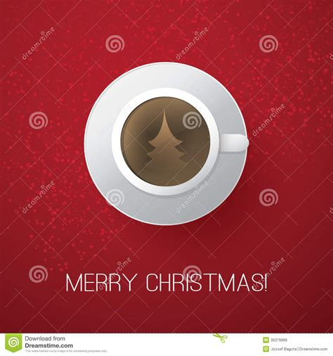 merry christmas card  coffee cup royalty  stock