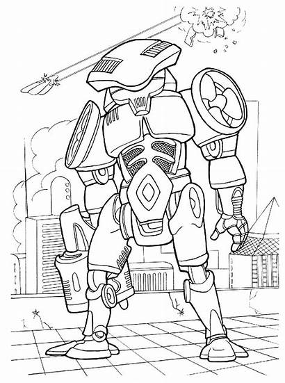Coloring Pages Cyborg Boys Street Wars Futuristic