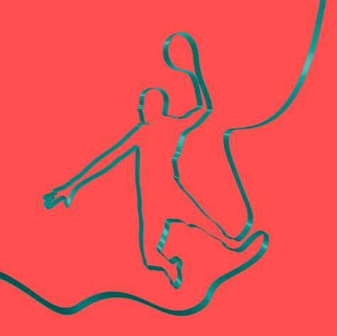 colorful basketball colorful ribbon shapes a basketball player vector