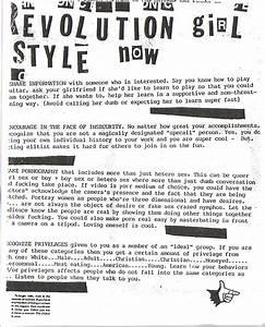 Riot Grrrl Manifesto Part I