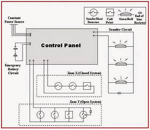 Electrical Engineering World  A Wiring Diagram For A Simple Fire Alarm System Consisting Of Two