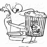 Popcorn Cartoon Coloring Pages Movie Drawing Bucket Vector Holding Leishman Box Outlined Clipartmag Flower Wolf Bad Clipart Ron sketch template