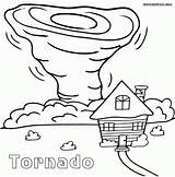 Tornado Coloring Pages Printable Cartoon Sheets Drawing Tornados Sheet Natural Print Disasters Tornadoes Craft Air Drawings Wind Preschool Draw Weather sketch template