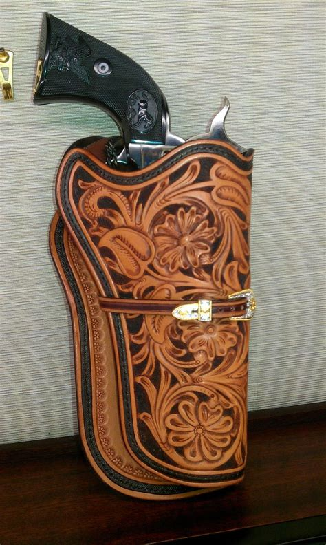 custom hand tooled leather leather holster hand tooled