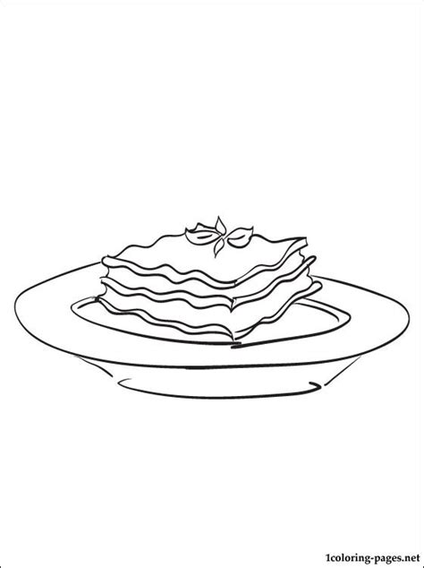 lasagna coloring page coloring pages