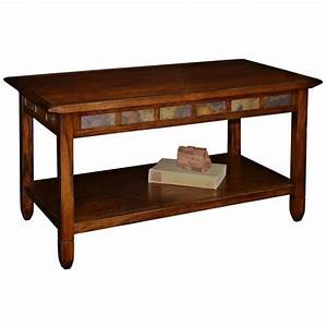 leick furniture rustic slate rectangular coffee table in With rustic rectangular coffee table