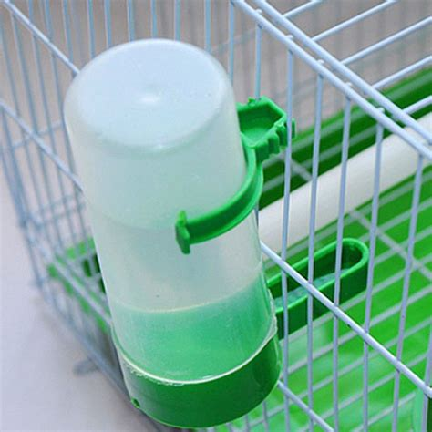 bird water feeder 4pcs bird pet water drinker food feeder waterer clip for