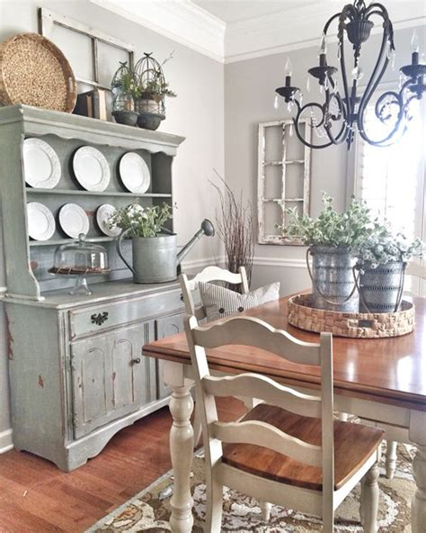 farmhouse shabby chic 25 calmness dining room with farmhouse style and vintage materials home design and interior