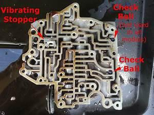 Toyota A541e Valve Body Check Ball And Vibrating Stopper Locations