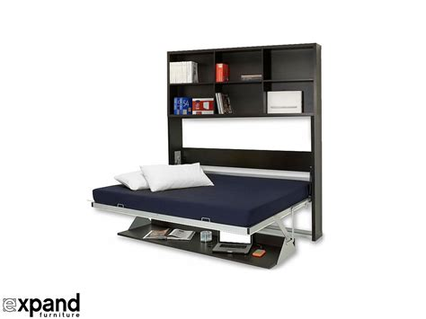 horizontal murphy bed with desk horizontal italian wall bed desk expand furniture