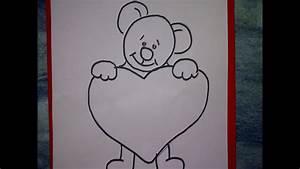 Bilder Zeichnen Für Anfänger : zeichnen lernen f r anf nger einen teddyb r mit herz zeichnen learn to paint cuddly bear youtube ~ Frokenaadalensverden.com Haus und Dekorationen