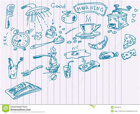 morning doodles royalty  stock photography image