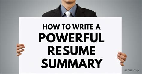 How To Write A Powerful Resume Summary by How To Write A Powerful Resume Summary 10 Best Exles Resumonk