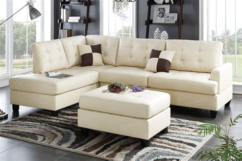beige leather sectional sofa and ottoman a sofa