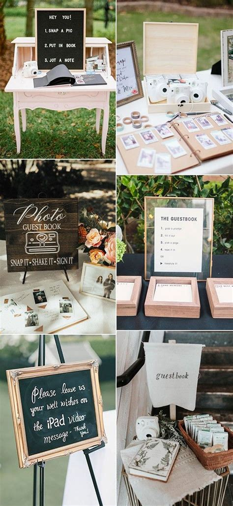 15 Creative Wedding Guest Book Sign in Table Ideas