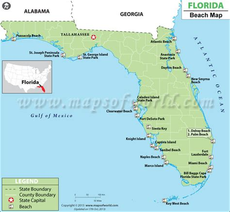 buy map  florida beaches