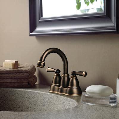 moen banbury two handle high arc bathroom faucet in