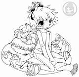 Chibi Yampuff Boy Chibis Strawberry Coloring Pages Lineart Commission Stuff sketch template
