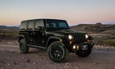 Black Jeep Wrangler, Suv, Side View, Black Hd Wallpaper