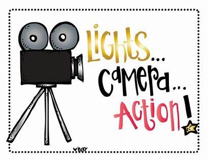 Camera Action Lights Clip Clipart Melonheadz Hollywood