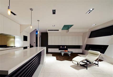 cuisine noir déco appartement futuriste