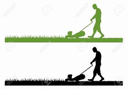 Lawn Care Mower Clipart Silhouette Grass Mowing