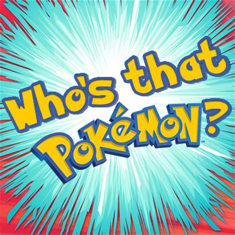 Who's that Pokemon - Play Who's that Pokemon at UGameZone.com