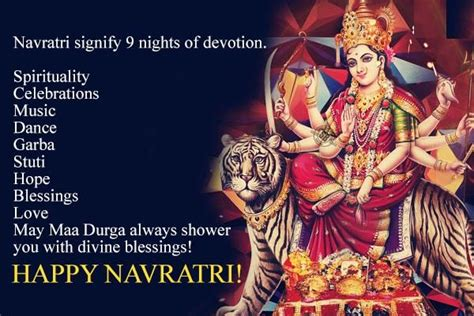 navratri signify  nights  devotion