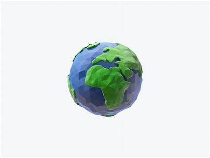 Earth Mountain Icon Sphere Perfect Pixel Animated