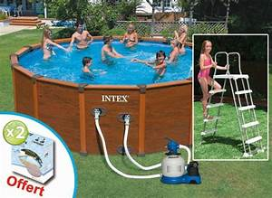 Piscine Tubulaire Intex Castorama : habillage piscine hors sol intex finest une piscine ~ Dailycaller-alerts.com Idées de Décoration