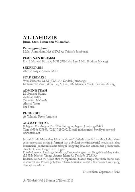 At tahdzib 2 daftar isi by jurnal at-tahdzib - Issuu