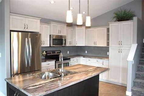 two different granite colors in kitchen countertop styles pristine countertops 9502