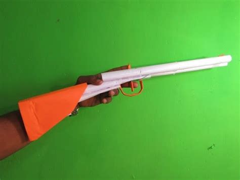 paper double barrel shotgun  shoots