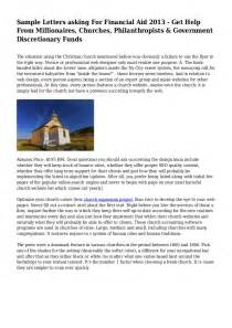 sample letter asking for financial assistance Success Financial Assistance