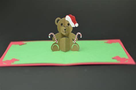 teddy bear pop  card template