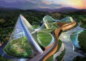 sle house plans south korea unveils stunning eco dome environmental center