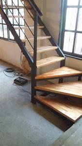 Escalera De Hierro Y Madera Para Interior $ 950 en