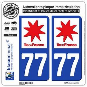 Plaque Immatriculation France : autocollant plaque immatriculation 77 seine et marne logotype ~ Medecine-chirurgie-esthetiques.com Avis de Voitures