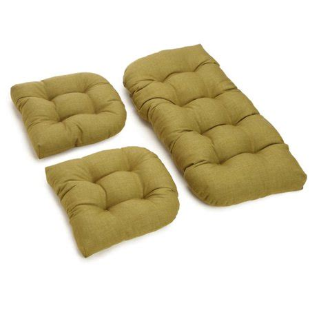 Wicker Settee Cushion Sets by Blazing Needles Outdoor Wicker Settee Cushion Set Of 3