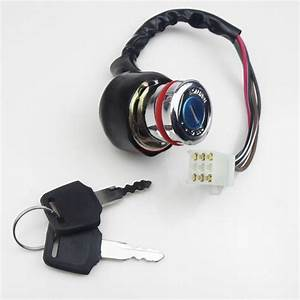 Ignition Key Switch 6 Wire Kazuma Falcon Roketa Atv 50cc