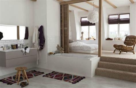 chambre salle de bain ouverte la salle de bain ouverte sur la chambre photo 8 10 une