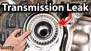 How To Fix A Transmission Leak In Your Car  Axle Seal