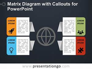 Matrix Diagram With Callouts For Powerpoint