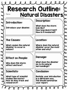 Report Outline: Natural Disasters by Kmwhyte's Kreations | TpT