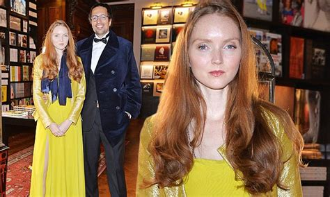 lily cole  rare red carpet appearance  support