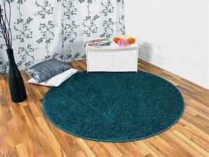 Teppich Rund 2m : hochflor langflor teppich shaggy nova petrol rund sonderaktion sonderposten hochflor langflor ~ Whattoseeinmadrid.com Haus und Dekorationen