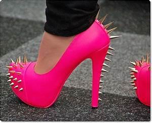 Image Gallery neon pink heels