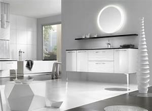 Miroir Rond Lumineux : mod les de miroirs ronds pour la salle de bain ~ Zukunftsfamilie.com Idées de Décoration