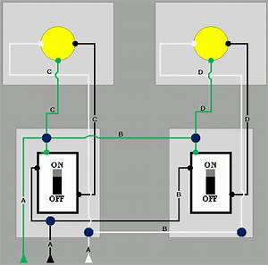 Need Help Wiring Two Lights To Two Switches